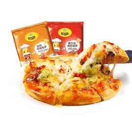 酣畅 畅享 5份味美披萨套餐 多种口味 7英寸 培根 芝士拉丝披萨加热即食