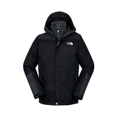 北面THE NORTH FACE  男冲锋衣秋冬户外加厚保暖抓绒三合一外套3CGL
