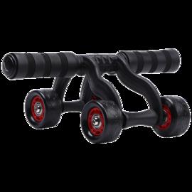 李宁 四轮单手家用静音健腹轮男女腹肌轮俯卧撑哑铃健身器材减腹增肌轮LBDM756-1