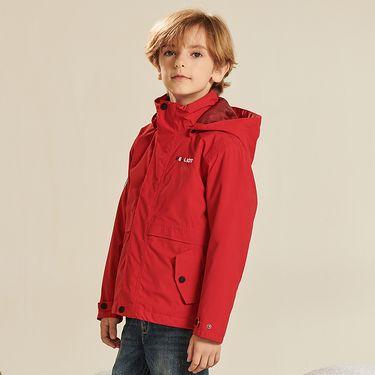 伯希和 户外儿童冲锋衣三合一男童女童加绒加厚保暖两件套抓绒外套