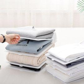 SP SAUCE 日本懒人叠衣板5个装 衣柜收纳叠衣架创意家用叠衣服工具 T恤衬衫收纳整理架防皱