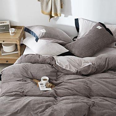 卡佩利丝 秋冬优质加厚臻棉绒保暖四件套床 上用品-克瑞斯-浅咖(多规格可选)ZT