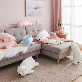 丽芙 舒柔卡通抱枕  卡通可爱动物毛绒玩具公仔抱着睡觉抱枕宝宝布偶可咬娃娃女孩儿童玩具北极熊可爱猪小羚羊