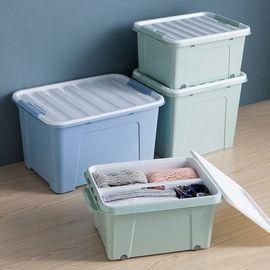 丽芙 家居 大容量加厚收纳箱  特大号家用加厚衣服玩具分类收纳箱塑料储物箱有盖棉被子整理箱子床底车用橱柜收纳盒有盖