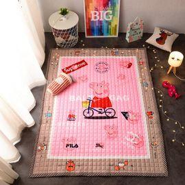馨乐屋 北欧INS可爱卡通地垫  婴儿儿童爬行垫  环保棉质地垫  方格款(薄) 多款可选