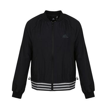 阿迪达斯 adidas 女装外套2018秋季新款立领防风棒球服运动夹克开衫DM5296