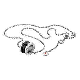 宝格丽BVLGARI 【预售】宝格丽BVLGARI 项链925银黑色陶瓷吊坠慈善款项链男女同款项链