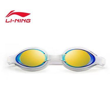 李宁 泳镜高清时尚休闲眼镜防水防雾大框游 泳装备男女士近视平光LSJM597