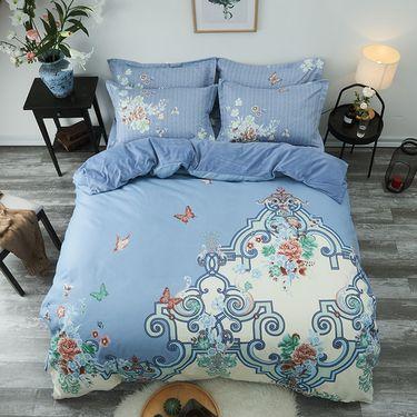 洁帛 生态暖绒中国风四件套舒适温馨保暖