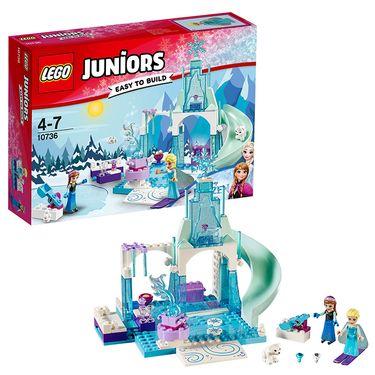 乐高 玩具 小拼砌师 Juniors 4岁-7岁 安娜和艾莎的冰雪乐园 10736 积木LEGO
