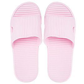 MINISO/名创优品 G简易条纹女士浴室拖(粉红39-40码)
