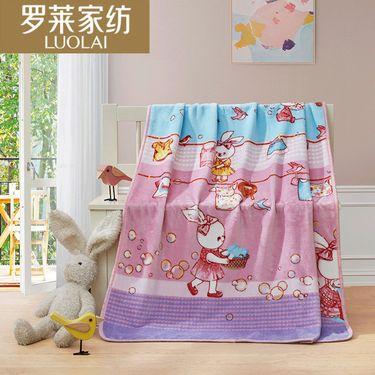 罗莱 梦幻小兔舒柔毯 盖毯 儿童毯