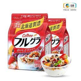 Calbee/卡乐比 【中粮海外直采】 日本Calbee卡乐比北海道水果麦片500g