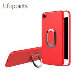lifepoints/生活易点 苹果xiphone 7plus苹果8x手机壳磨砂硅胶软壳10黑色防摔套带指环扣磁吸支架
