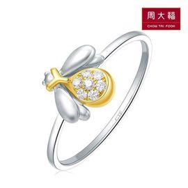 周大福  萤火虫18K金钻石戒指U168886