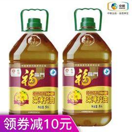 福临门 【中粮福临门1.9-1.12品牌钜献】非转基因纯香菜籽油5L*2
