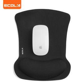 ECOLA/宜客莱 人体工学护腕鼠标垫 记忆棉加大特厚手托笔记本台式电脑办公桌游戏腕垫 黑色MPD-016BK