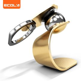 ECOLA/宜客莱  懒人支架 车载导航支架 出风口支架360度旋转适用苹果三星小米 指环扣支架 A01