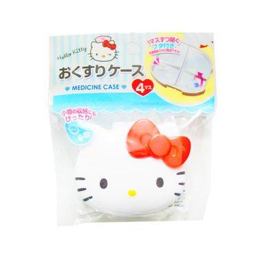 LEC 日本进口LEC 可爱KITTY小药盒便携式药品密封迷你小号随身分装旅行药盒