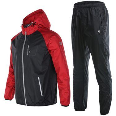 范斯蒂克 健身暴汗服套装男四季跑步训练发热排汗服长袖爆汗服两件套 TC3058