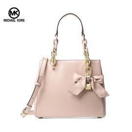 Michael Kors MICHAELKORS迈克·科尔斯MK女包女士时尚蝴蝶结手提单肩包嫩粉色 洲际速买