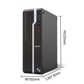 宏碁 (acer)台式电脑商用家用游戏台式主机小机箱X4650升级款X4270 单主机 140N G4900 4G 1TB集显