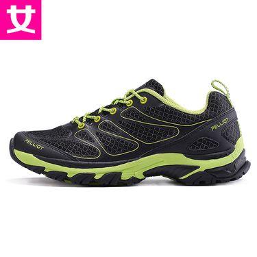 伯希和 户外越野跑鞋 男女撞色耐磨登山鞋轻便透气休闲运动徒步鞋