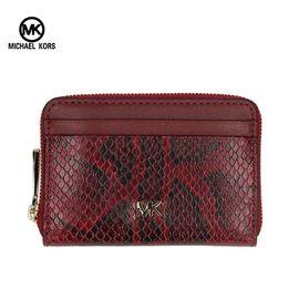 Michael Kors 迈克.科尔斯/Michael Kors MK系列女士钱包手拿包 红色蛇纹拼接 洲际速买