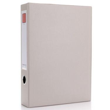 齐心  (Comix) 档案盒A4 文件盒55mm 磁扣式资料盒(带压纸夹) 黑色 办公文具 A1236