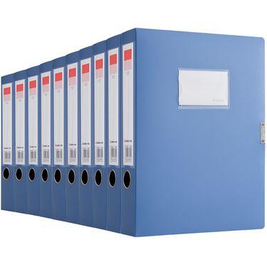 齐心  (Comix) 10个装 55mm牢固耐用粘扣档案盒/A4文件盒/资料盒 A1249-10 蓝色 办公用品