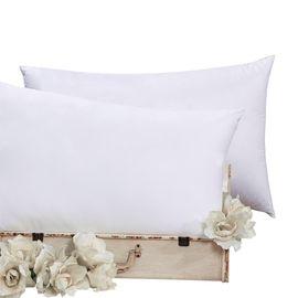 富安娜 舒柔1+1枕头枕芯颈椎枕舒适枕枕头芯 情侣对枕  74*48cm