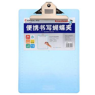 齐心 (Comix) A745 便携式书写蝴蝶夹/板夹A4 透明色