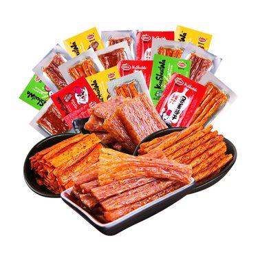 口水娃 辣条辣片零食500g儿时8090后怀旧零食大礼包 500克/份四种口味随机发货