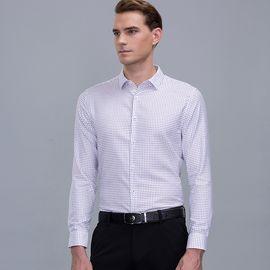 SEPTWOLVES 七匹狼长袖衬衫 男士时尚休闲商务衬衫净色衬衣男111710502716