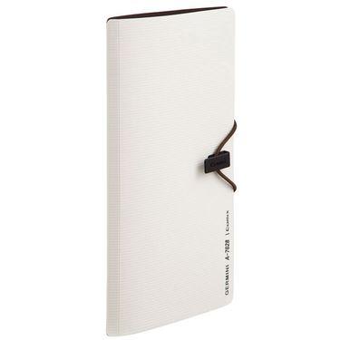 齐心 (Comix) A7628 30枚便携式名片册/卡片册 深灰色 Germini系列