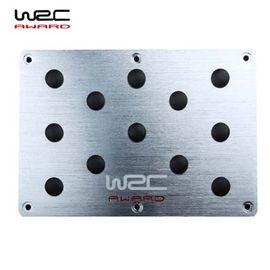 WRC 铝合金防滑防磨损踏板汽车用脚垫踏板丝圈脚垫踏板改装饰用品