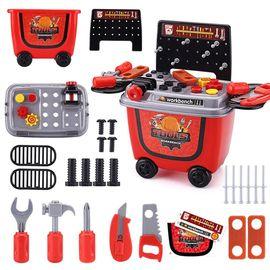 益米 儿童过家家玩具合集 小丸子购物车  恐龙拼装工具箱 仿真拆装工具箱