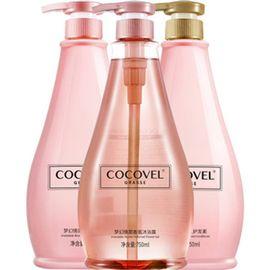 蔻露薇 COCOVEL洗发水露护发素沐浴露液套装粉男女香味持久留香正品去屑750ml