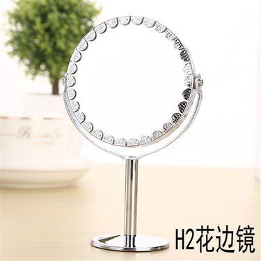 泊泉雅 金属小号镜子 台式镜子 双面化妆镜 梳妆镜 1:2放大功能