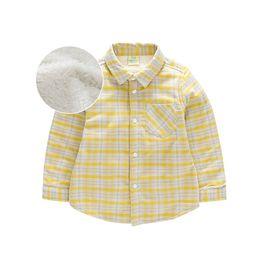 【唯品会】迪士尼-小熊维尼2018冬季新款童装男童格子加绒加厚保暖衬衫