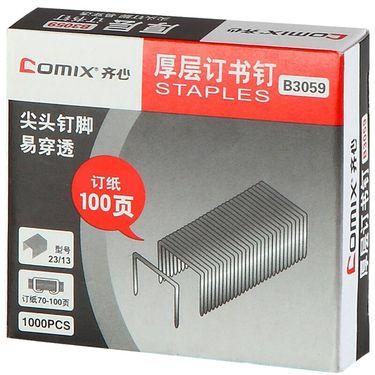 齐心 (COMIX)1000枚/纸盒订书钉100页 (23/13) 办公文具 B3059