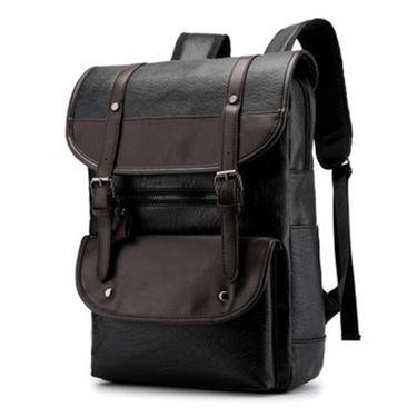 LANVERA 双肩包男皮质韩版学生书包男时尚潮流旅行大容量背包休闲955