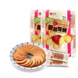 美味栈 番薯味薄饼干 300g*2 香港地区进口 薄脆饼干办公室零食