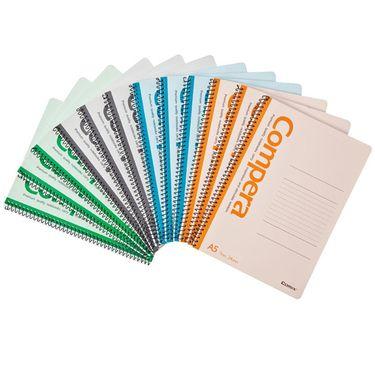 齐心 (COMIX) CSA5507 螺旋装订本/记事本/软抄本 A5 50张 配色 12个装