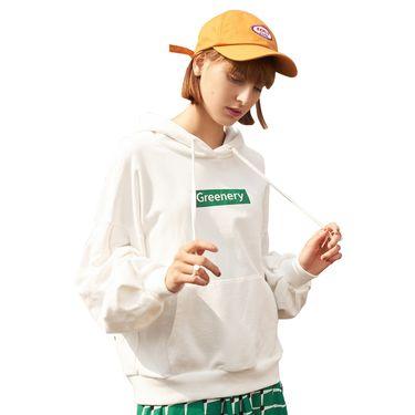 初语 连帽卫衣女春装新款植物印花宽松韩版学生潮流帽衫外套 8910521012