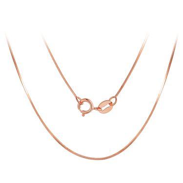 中国黄金 18K金项链玫瑰金蛇骨素链锁骨链项链彩金项链女新款