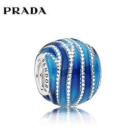 PANDORA 潘多拉蓝色旋涡925银珐琅配饰797012ENMX 洲际速买