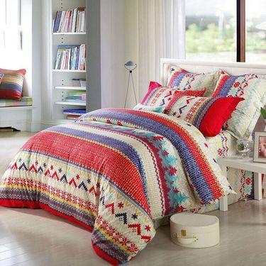 水星家纺 全棉床上四件套-倾听时尚(被套:200*230cm)