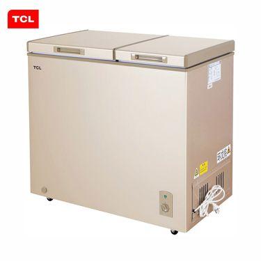 TCL 196升冷冻冷藏双温柜 不锈钢内胆 家用冷柜(绚丽金)HCD-196HQD