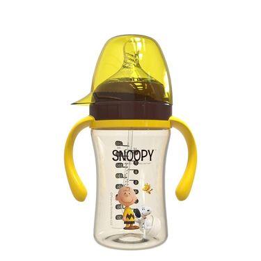 SNOOPY 宽口径PPSU奶瓶新生儿6-18个月宝宝防摔防爆带重力球